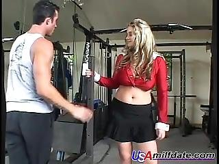 Made In Usa Sexy Milf Fucks In The Gym