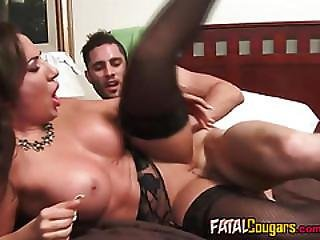 Busty Housewife Ava Shags A Huge Cock