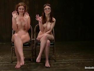 Bdsm, Mistress, Lesbian Domination, Gloves, Anal Insertion, Pussy Fingerin