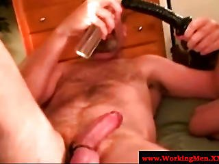 Mature Gay Guy Toying His Friends Ass