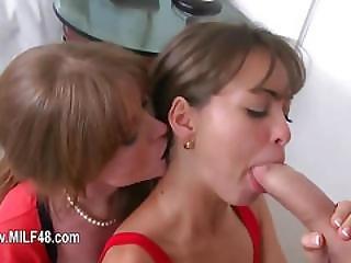 First Time Babysitter Banging Her 50yo Mom