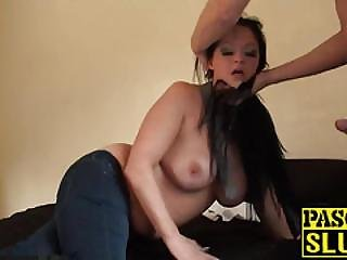 Busty Dark Haired Hottie Devon Breeze Riding Big Hard Dick