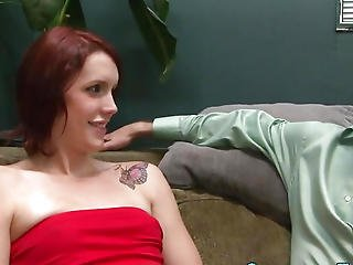 Screwed Lady-man Receives Cum