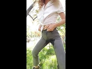 Requested, Getting So Wet In My Very Tight Jeans!