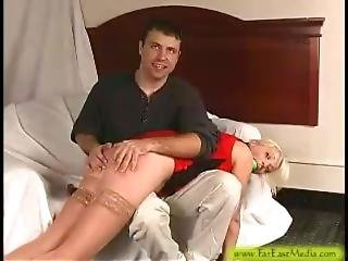 Angelica Spanked Then Cums
