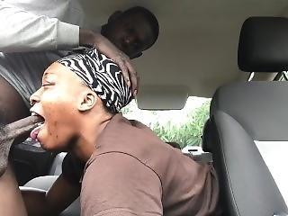 Ebony Girlfriend Giving Sloppy Head In Public Pt. 1