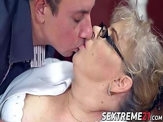 Hot Chubby Granny Viola Jones Is Sucking This Rock Solid Cock And Takes It In Her Old Pussy!