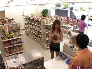 Asian Pornstar Akiho Yoshizawa Fucks In Store