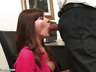 Office Assistant Uses Her Pussy To Get A Promotion