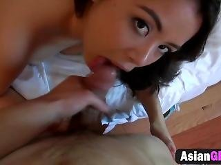 Hot Asian Babe Diamond Gives Bj And Gets Nailed From Behind