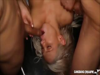 Sexy Young Girls Having Gangbang Fun