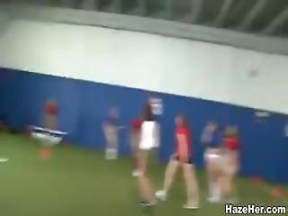 Hot Lesbian Sexcapade After Some Naked Football