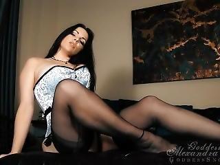 μαύρο, μαύρο καλσόν, πόδια, φετίχ, πατούσα, αυνανισμός, milf, pov, κάλτσα, teasing, παλιό