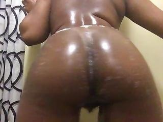 Curvy Ebony Teen Hypnotizing You With Ass & Hairy Pussy