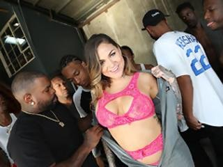 Karmen Karma Gives Deepthroat Blowjob Every Black Man