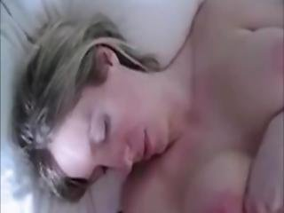 Hot Cumshot On The Masturbating Wife