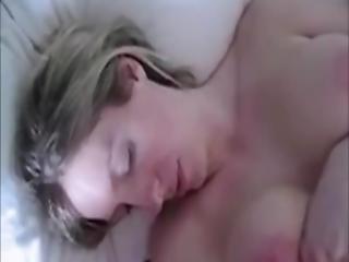 Hot Cumshot On The Masturbating Wife