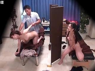 Two Sisters Get Massage And Fucked In A Threesome