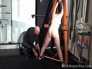 Young Redhead Slavegirl Vickys Dungeon Whipping And Swedish Submissive Tied