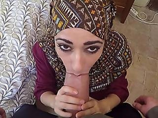 Arab Woman With Hijab Sucks And Fucks A Monster Cock