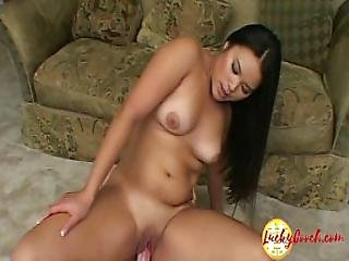 Petite Babe Teen Asian Tiny Bitch Fucking Around Like Crazy With Big White Dick