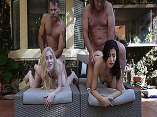 Emma And Natalie Teen Pussies Gets Romped From Behind