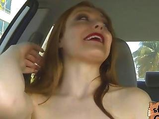 Redhead Farrah Flower Gets Her Face Cum Drenched Pov