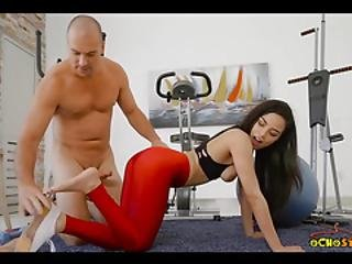 Getting Dirty With Gorgeous Latina Teen In The Gym