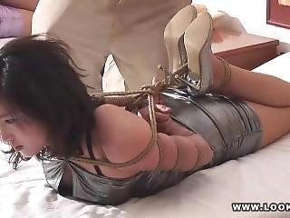 asiatisk, bondage, fetish