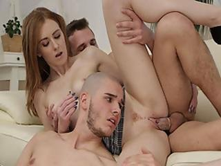 anal, bissexual, broche, lamber, cona, foda a três