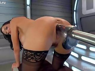 Jet Orgasm From Fucking Sex Machines