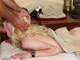 TrickySpa blondes First Time Sucking Dick