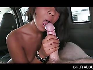 Choco Beauty Sucks And Rides Sex Bus Shaft