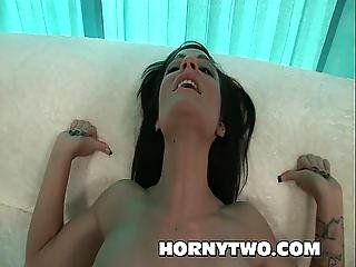 Slim Teeny Gets Ravaged By Big Black Cock In Tiny Pussy