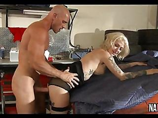 Sexy Blonde Big Tits Car Garage Fuck Kleio Valentien