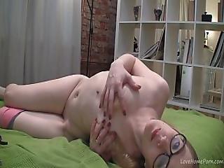 Nerdy Teen Naida Rubs Her Pussy