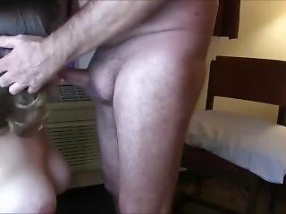 Busty Chick Makes Him Cum With Her Oral Skills
