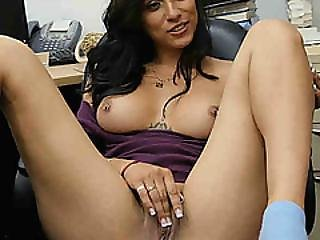 Super Hot Latina Jessi At The Pawnshop Where She Gets Down And Dirty