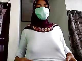 asiat, store bryster, bryst, flashing, indonesisk, brystvorte, fede brystvorter
