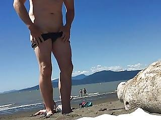 Girls Laugh At Guy With Tiny Dick On Beach