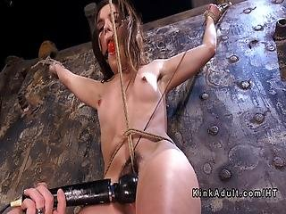 Gagged And Crotch Roped Sub Vibed