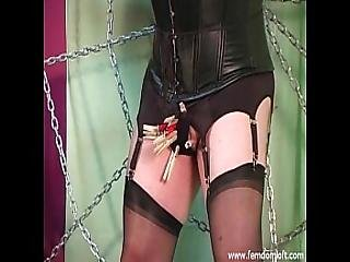 blondine, festgeklemmt, transvestit, dominatrix, kleid, latex, Reife, mätresse