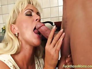 Hot Blonde Stepmom Rough Fucked