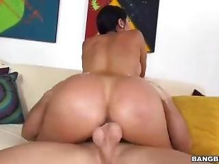 cul, bonasse, boules, gros cul, brunette, bite, chapeau, mature