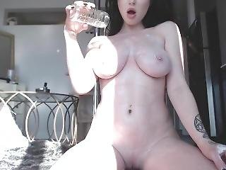 Amazing Girl Plays With Her Big Tits