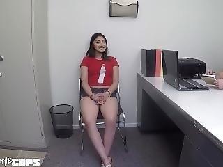 Screw The Cops - Latina Bad Girl Sucks Off The Intake Cop