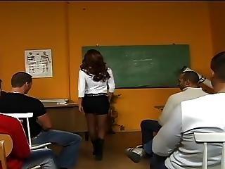 ベビー, ぶっかけ, 教室, 精液をショット, フェイシャル, 先生