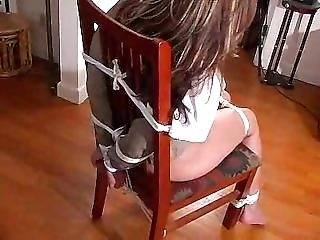 Cc Again Chair Tied And Cleave Gagged
