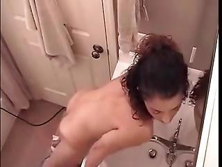 Amateur  Horny Step Sister Masturbating Intense Orgasm With Her Dildo