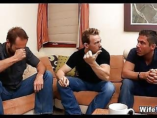 Wife Gets Gangbanged By Husbands Friends